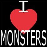 I Heart Monster (white lettering)