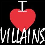 I Heart Villains (white lettering)