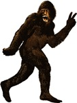 Bigfoot Sasquatch Yetti peace