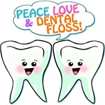 Peace Love Dental Floss