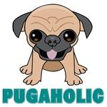 Pugaholic - Cartoon Pug Puppy