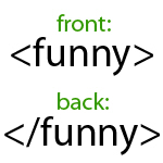Begin Funny End Funny HTML Humor t-shirts