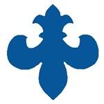 Inverted Fleur De Lis Blue