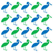 Spoonbill Pop Art Pattern