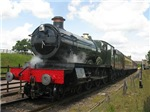Vintage steam engine Railway train