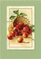 LUSCIOUS RED CHERRIES in a basket