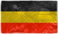 The German flag grunge