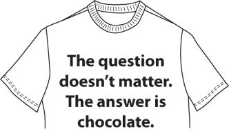 Question doesn't matter. The answer is chocolate