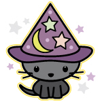 Spooky Black Cat