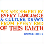 Language and Culture Quote Obama Shirts