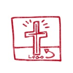 Pretty red christian cross 5 U C