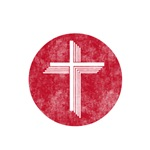 Pretty red christian cross 5 U F