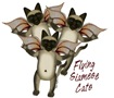 Flying Siamese Cat t-shirts and gifts