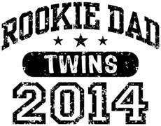 Rookie Dad Twins 2014 t-shirt