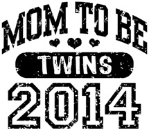Mom To Be Twins 2014 t-shirt