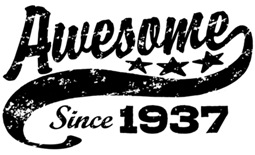 Awesome Since 1937 t-shirt