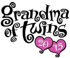 Grandma of Twins 2015 t-shirt