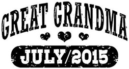 Great Grandma July 2015 t-shirt