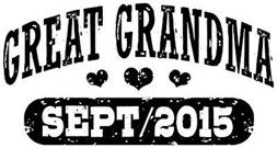 Great Grandma September 2015 t-shirt