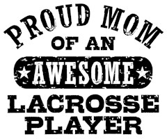 Proud Lacrosse Mom t-shirts