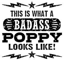 Badass Poppy t-shirts