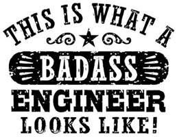 Badass Engineer t-shirts
