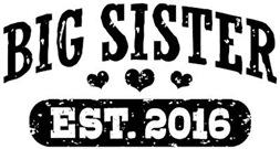 Big Sister Est. 2016 t-shirt