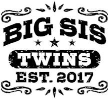 Big Sister Twins Est. 2017 t-shirt