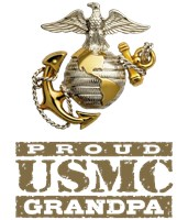 Proud USMC Grandpa t-shirts