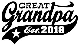Great Grandpa Est. 2018 t-shirts
