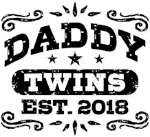 Daddy Twins Est. 2018 t-shirts