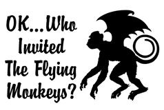 OK...Who Invited the Flying Monkeys t-shirts