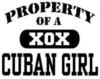 Property of a Cuban Girl t-shirt