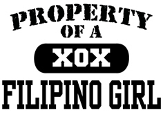Property of a Filipino Girl t-shirts