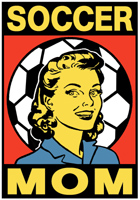 Retro Style Soccer Mom T-Shirts