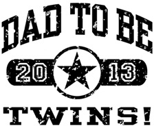 Dad To Be Twins 2013 t-shirt