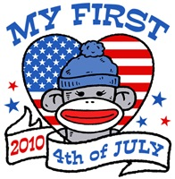 My First 4th of July 2010 t-shirts