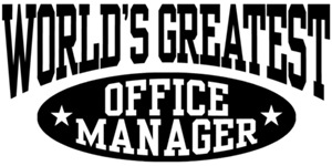 World's Greatest Office Manager t-shirts
