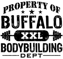 Property of Buffalo Bodybuilding t-shirts
