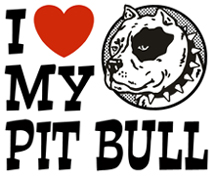 I Love My Pit bull t-shirts
