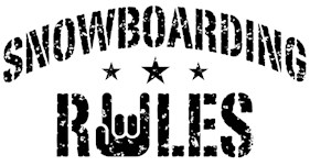 Snowboarding Rules t-shirts