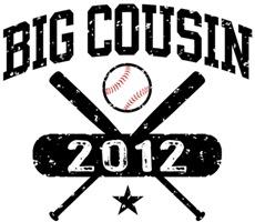 Big Cousin Baseball t-shirt