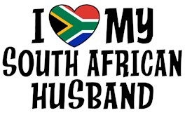 I Love My South African Husband t-shirts
