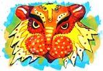 Bengali Lion Mask Design