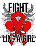 Heart Disease Ultra Fight Like a Girl Shirts