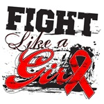 Blood Cancer Grunge Fight Like a Girl Shirts