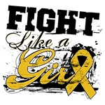 Appendix Cancer Grunge Fight Like a Girl Shirts