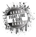 Fight Like a Girl Brain Tumor Splatter Shirts