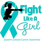 Ovarian Cancer Fight Like A Girl Knockout Shirts