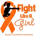 Leukemia Fight Like A Girl Knockout Shirts